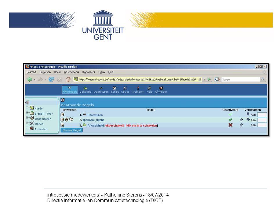 Webmail - Hands on (6) Spamfilter Vakantie (Afwezigheid)