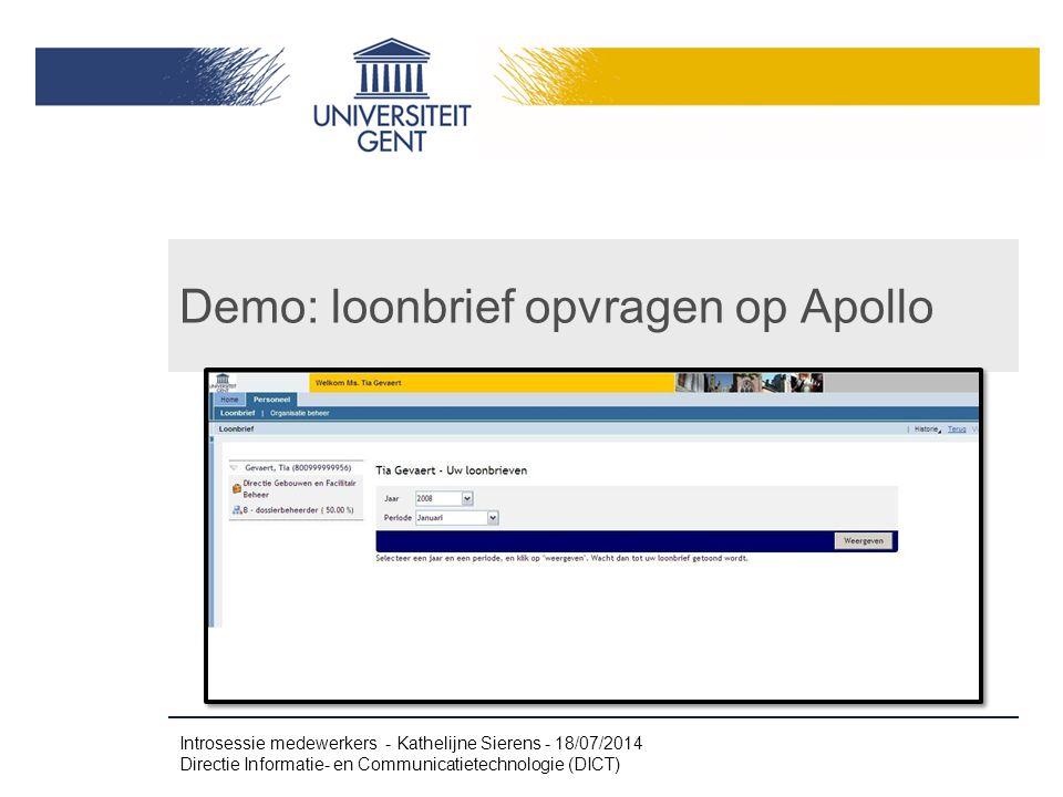 Demo: loonbrief opvragen op Apollo