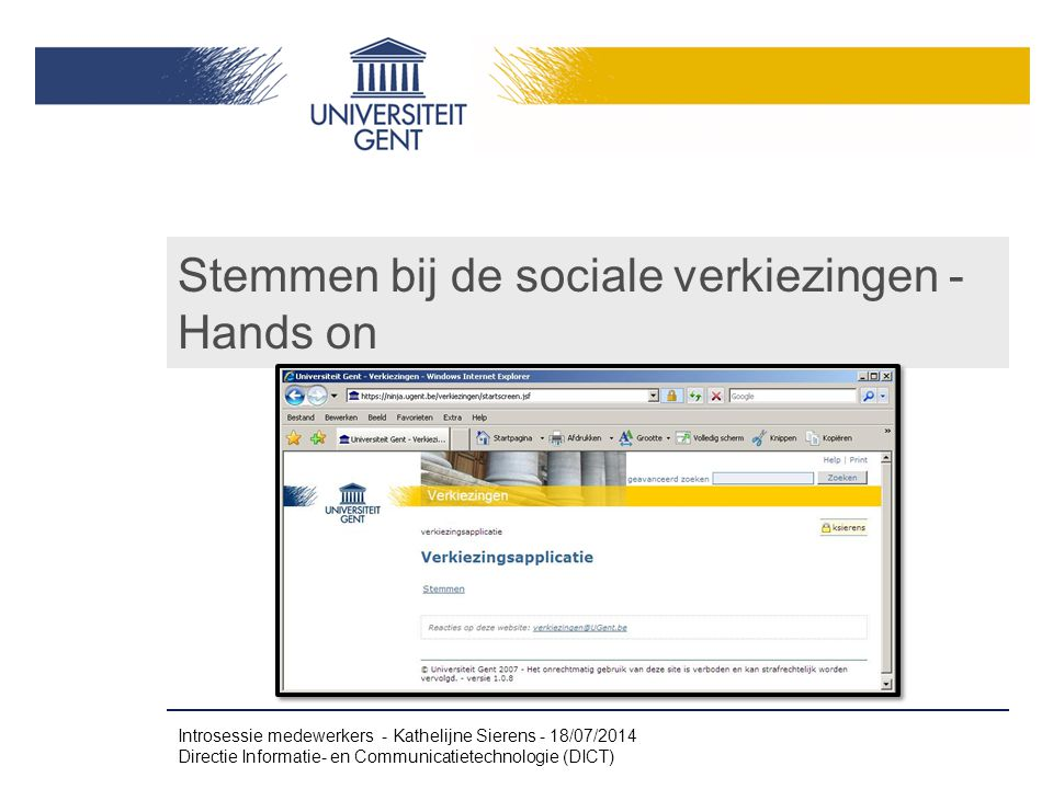 Stemmen bij de sociale verkiezingen - Hands on
