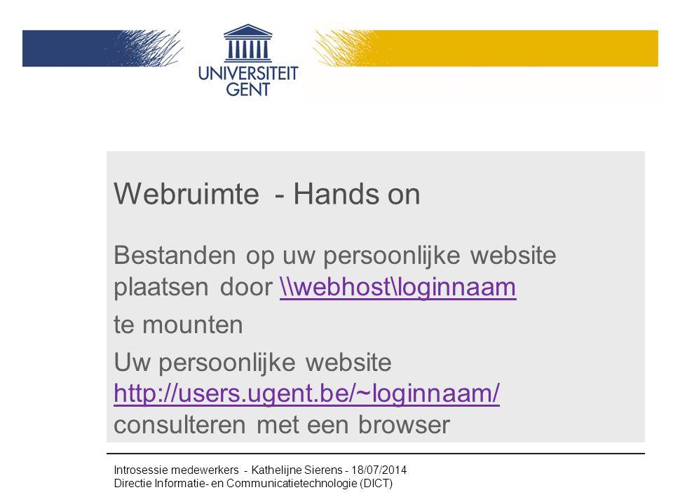 Webruimte - Hands on