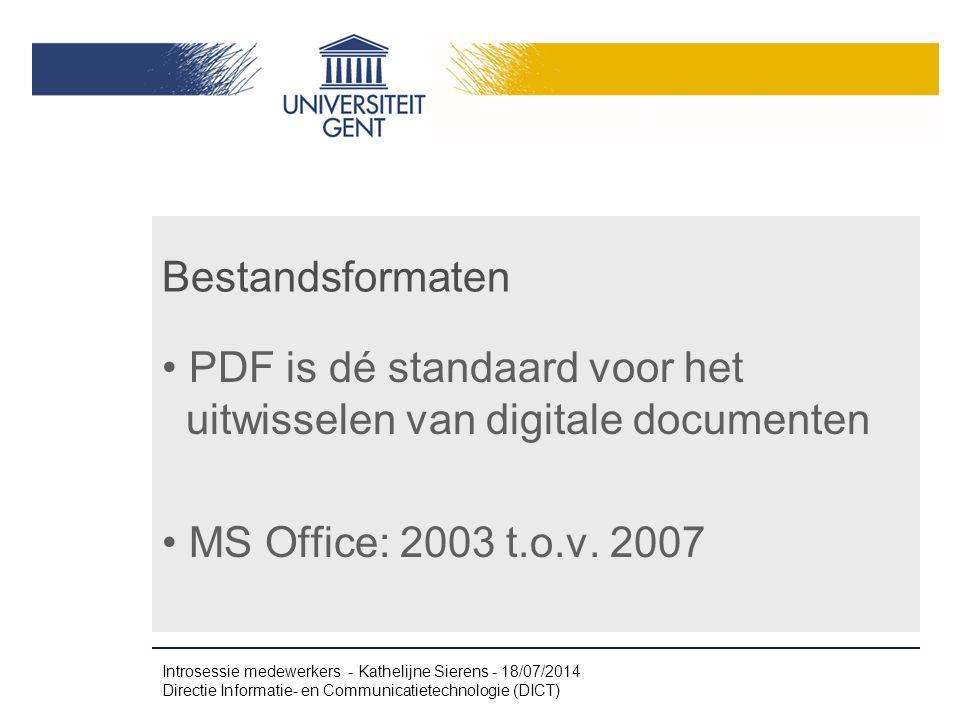 PDF is dé standaard voor het uitwisselen van digitale documenten