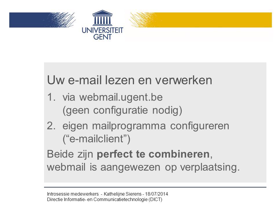 Uw e-mail lezen en verwerken