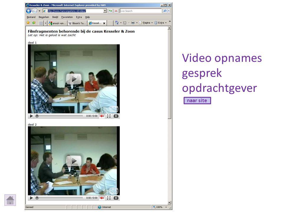Video opnames gesprek opdrachtgever