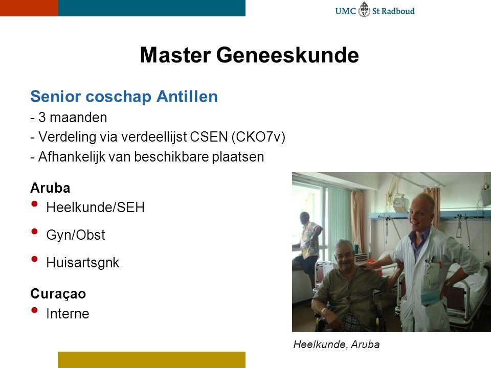 Master Geneeskunde Senior coschap Antillen - 3 maanden