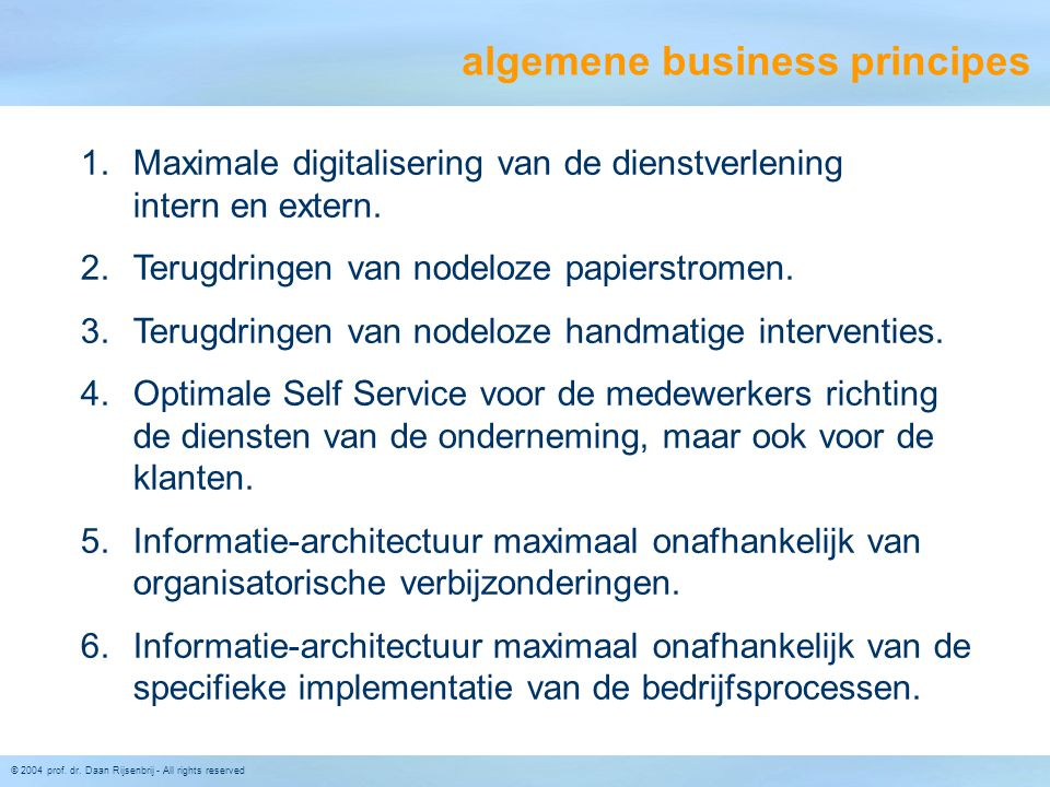 algemene business principes