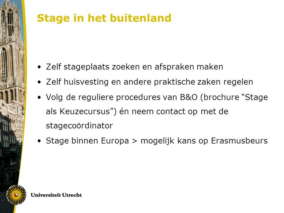 Stage in het buitenland