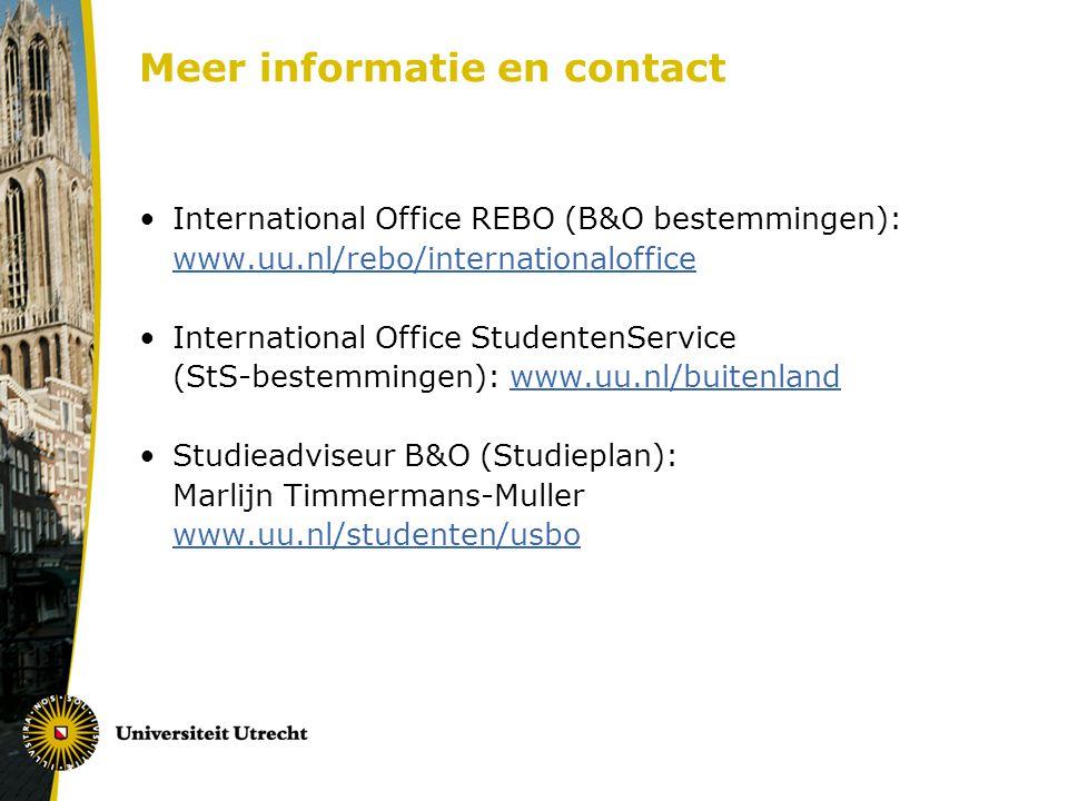 Meer informatie en contact