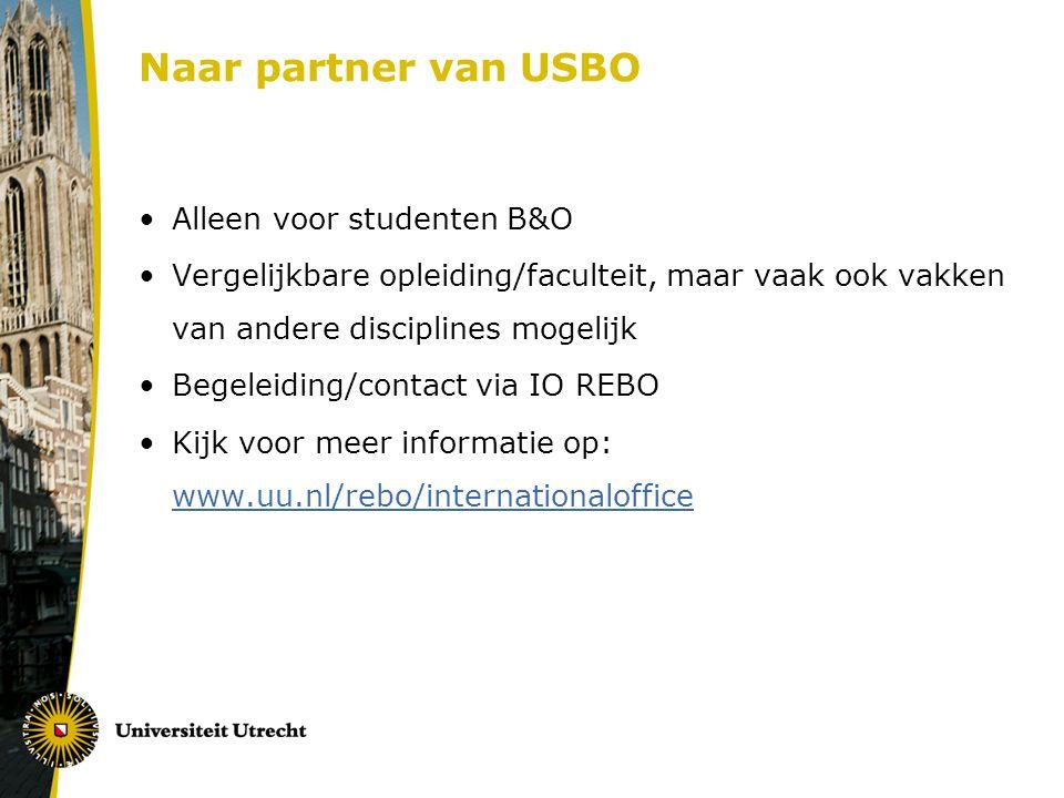 Naar partner van USBO Alleen voor studenten B&O