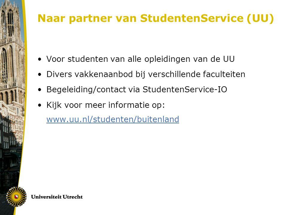 Naar partner van StudentenService (UU)
