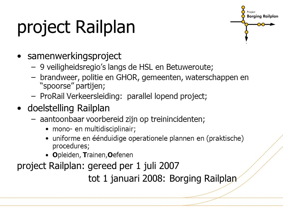 project Railplan samenwerkingsproject doelstelling Railplan