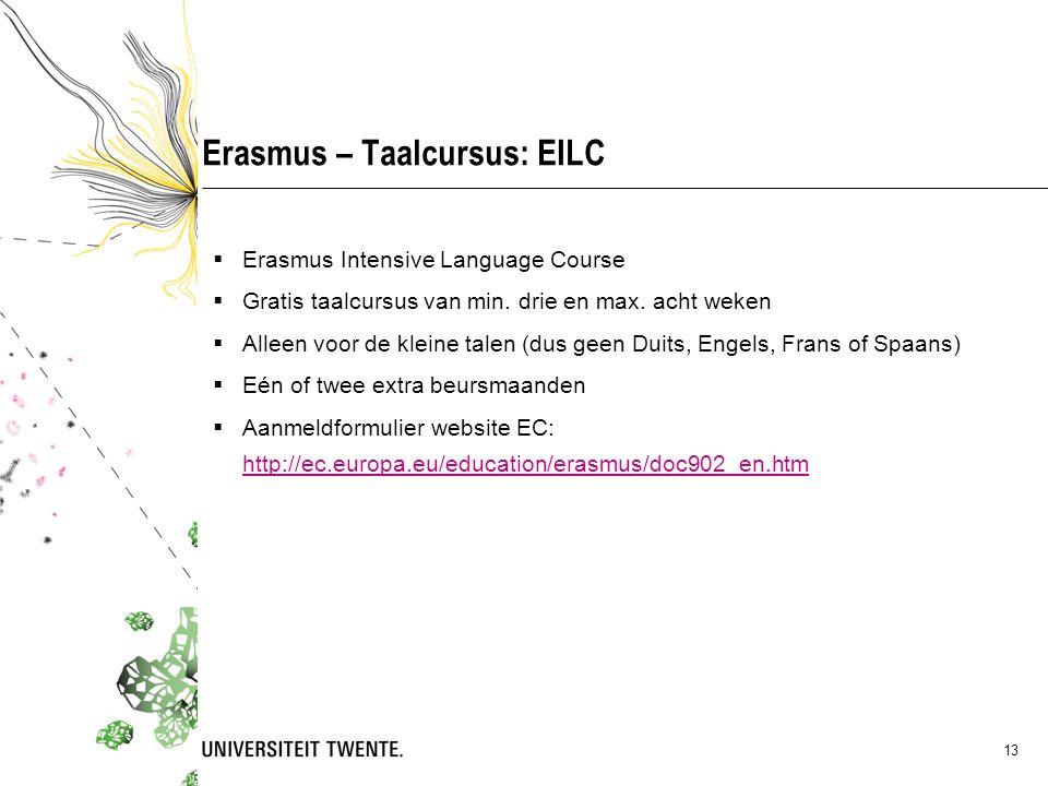 Erasmus – Taalcursus: EILC