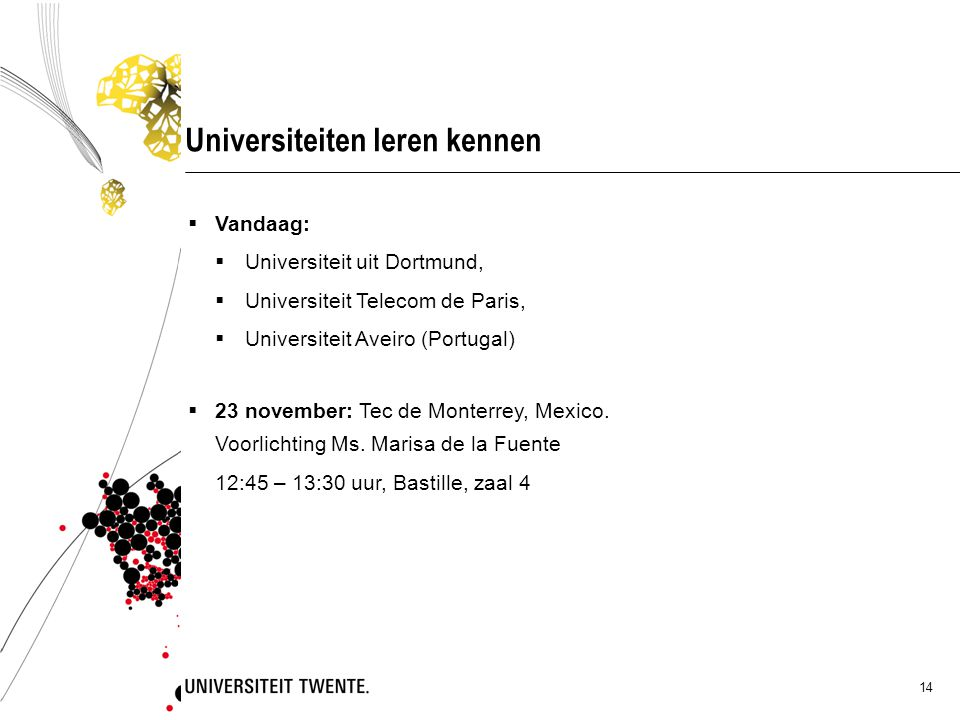 Universiteiten leren kennen