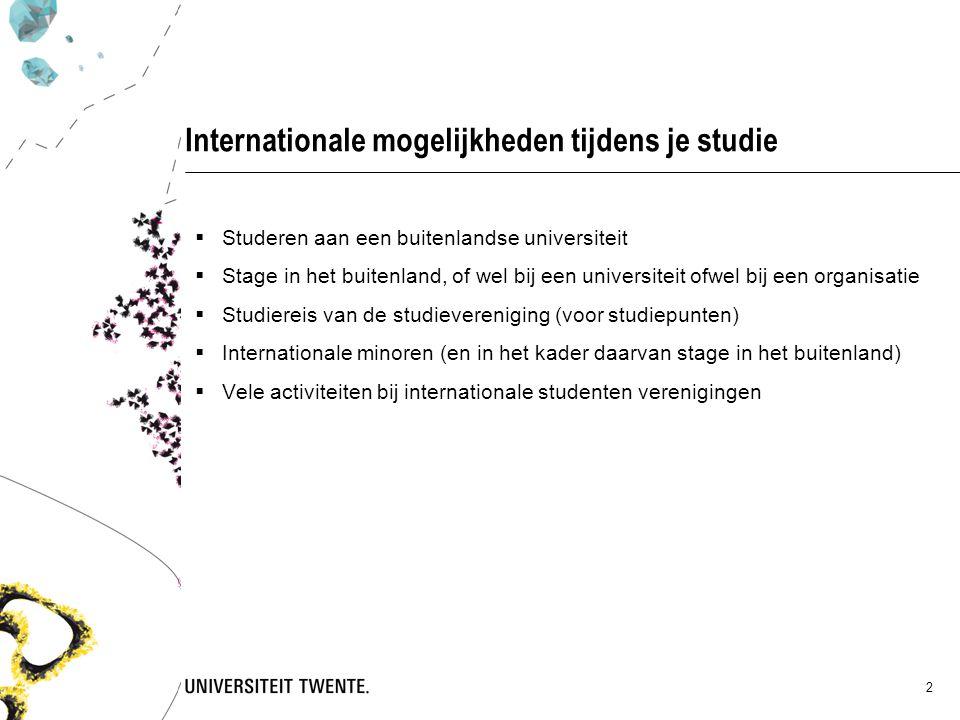 Internationale mogelijkheden tijdens je studie