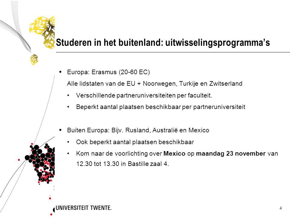 Studeren in het buitenland: uitwisselingsprogramma's