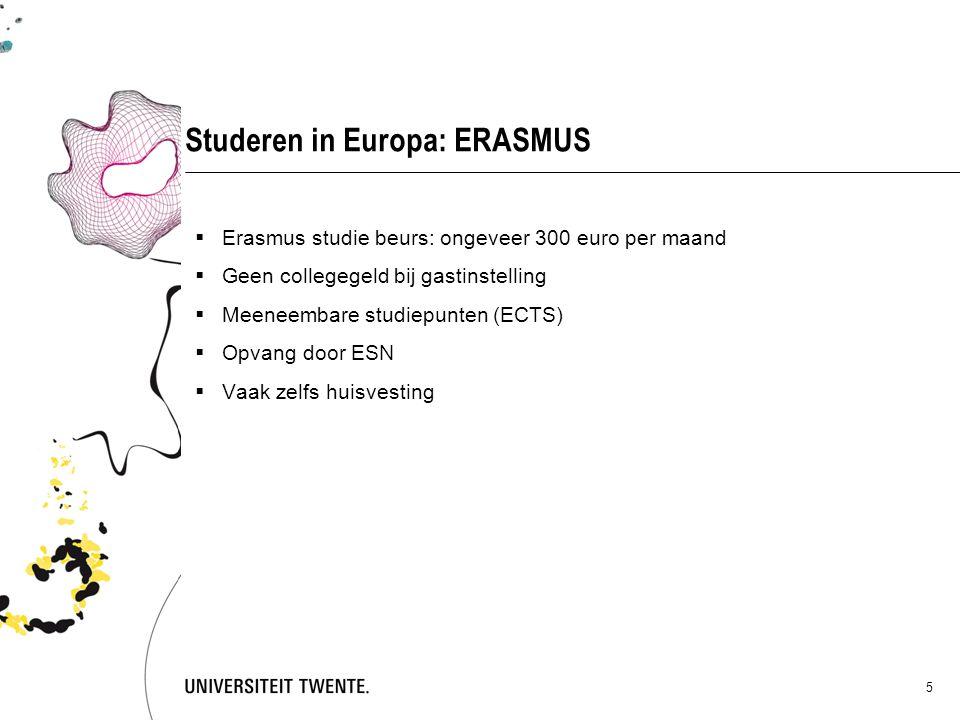 Studeren in Europa: ERASMUS
