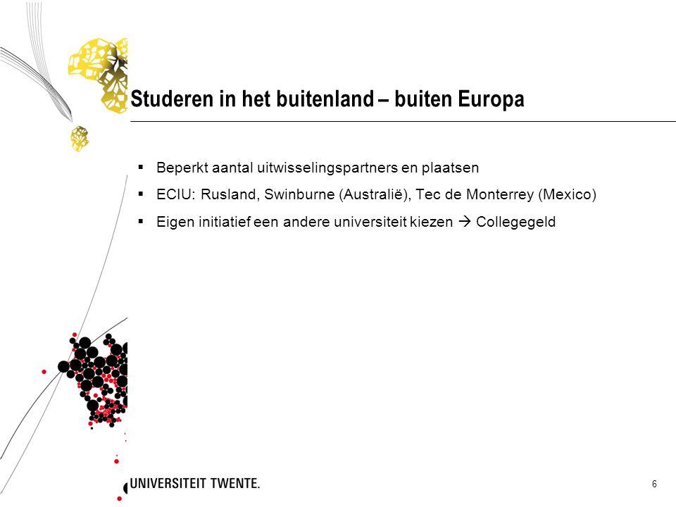 Studeren in het buitenland – buiten Europa
