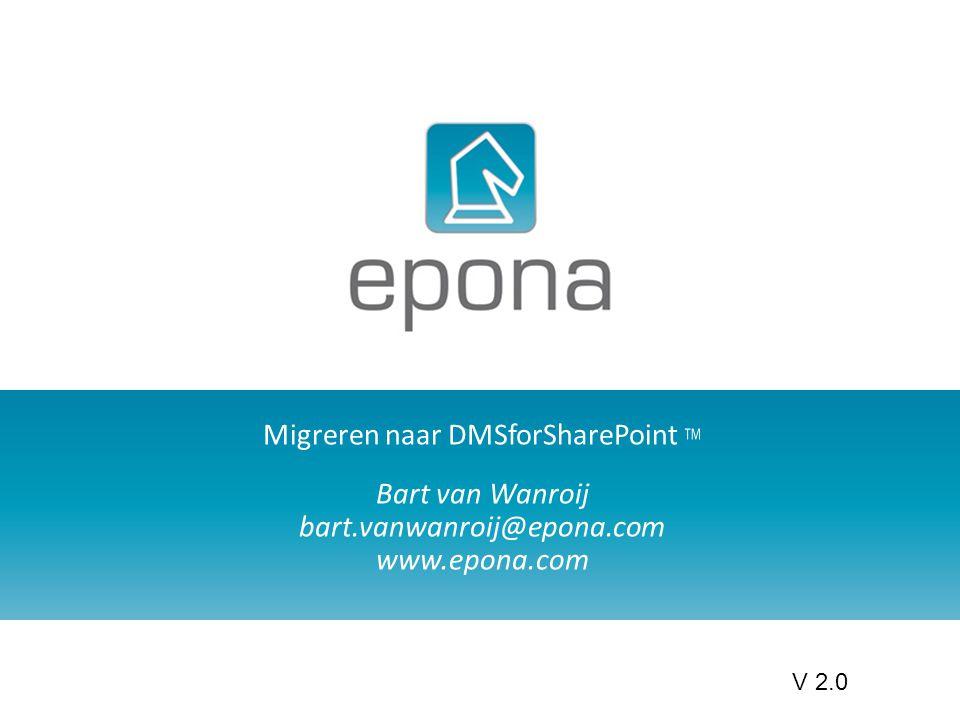 Migreren naar DMSforSharePoint TM