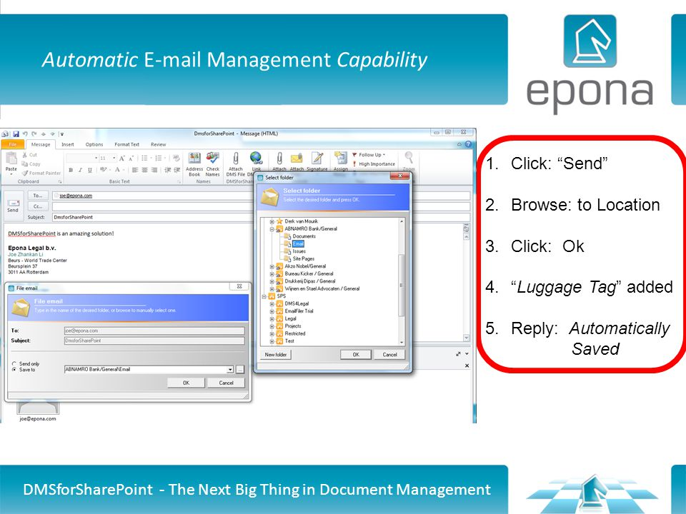 Automatic E-mail Management Capability