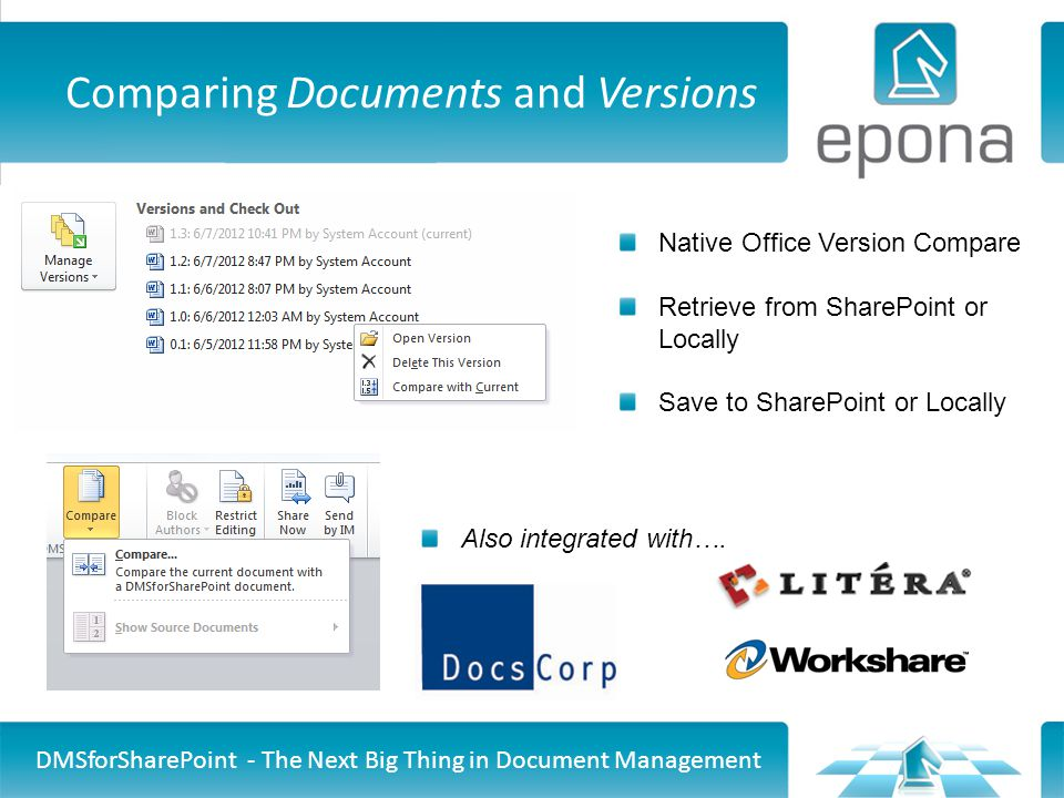 Comparing Documents and Versions
