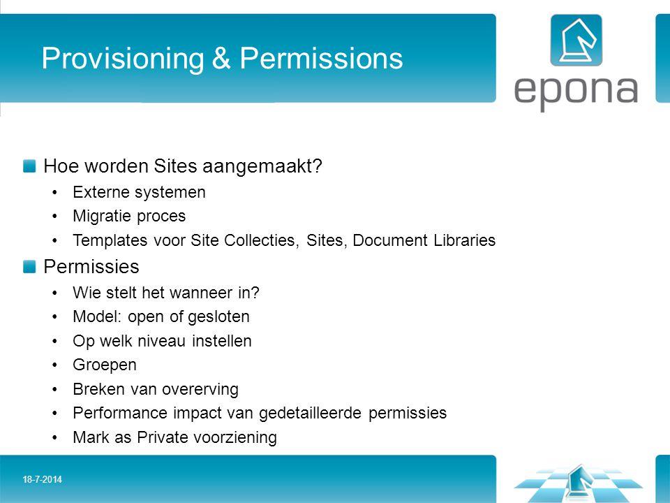 Provisioning & Permissions