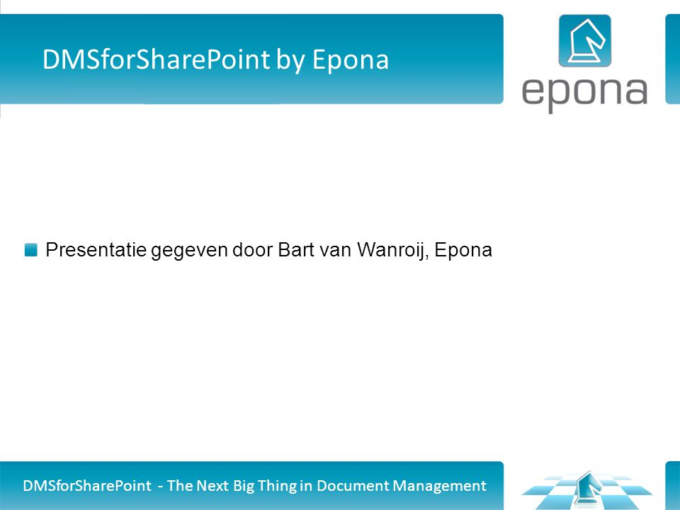 DMSforSharePoint by Epona