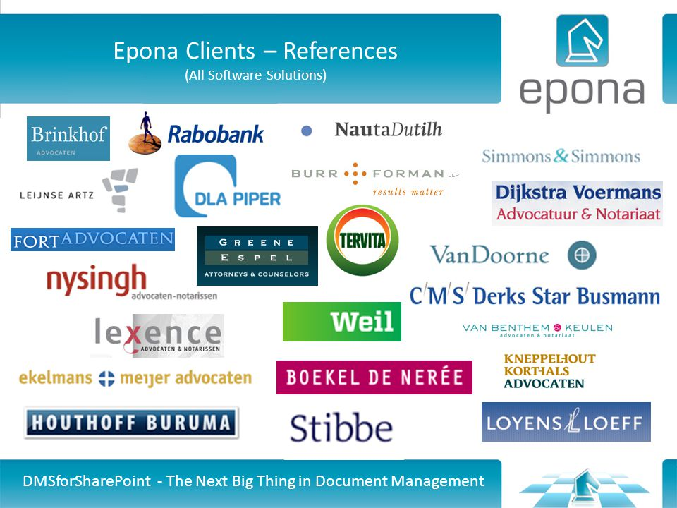 Epona Clients – References (All Software Solutions)