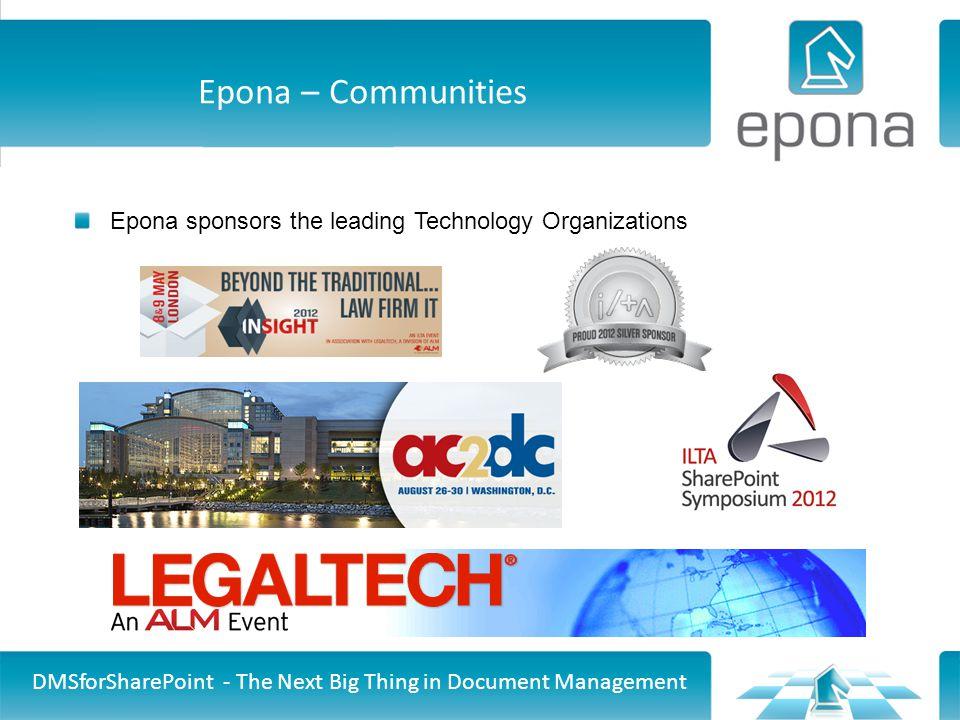 Epona – Communities Epona sponsors the leading Technology Organizations.