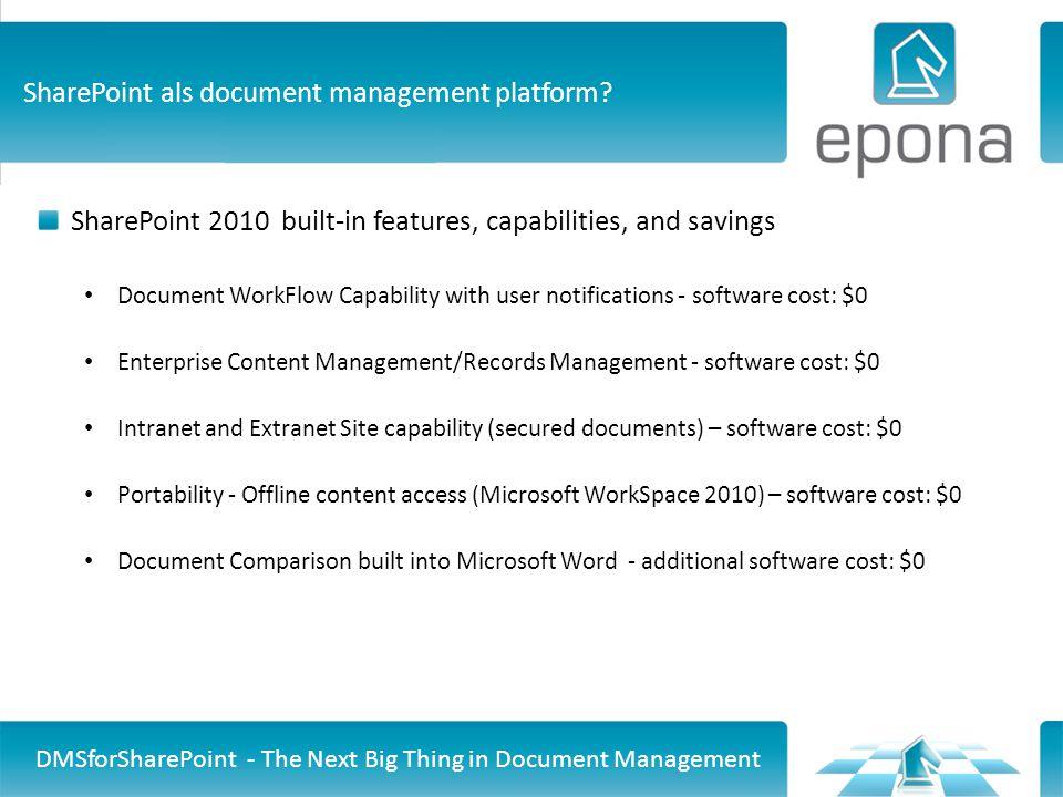 SharePoint als document management platform