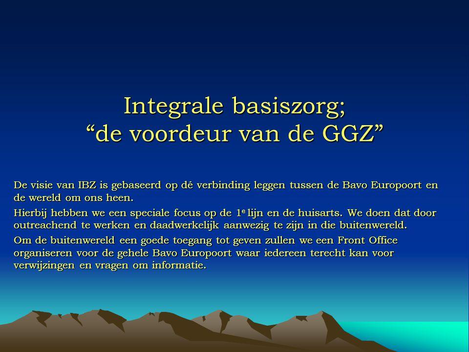 Integrale basiszorg; de voordeur van de GGZ