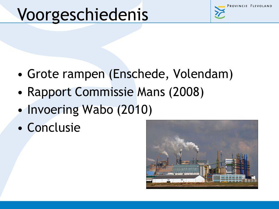 Voorgeschiedenis Grote rampen (Enschede, Volendam)