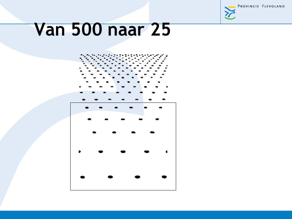 Van 500 naar 25