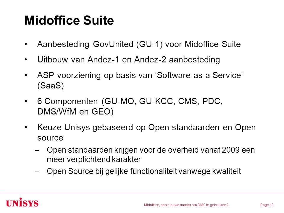 Midoffice Suite Aanbesteding GovUnited (GU-1) voor Midoffice Suite
