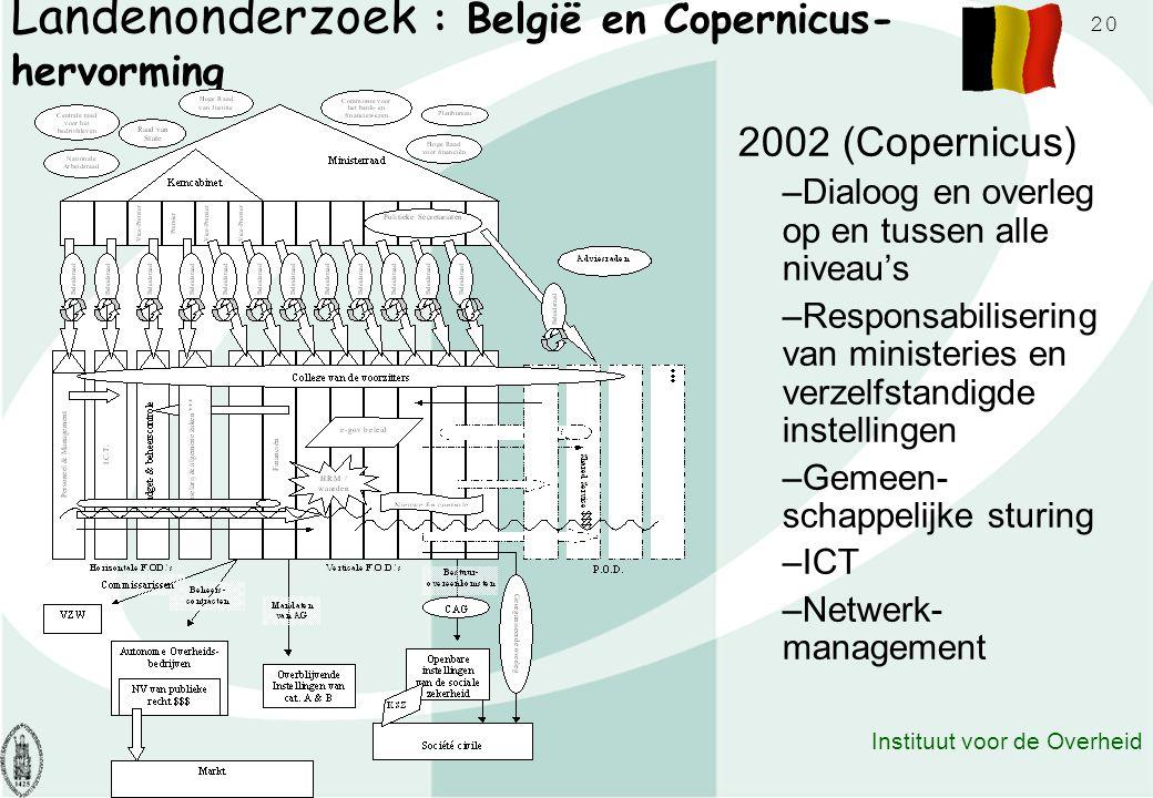 Landenonderzoek : België en Copernicus-hervorming