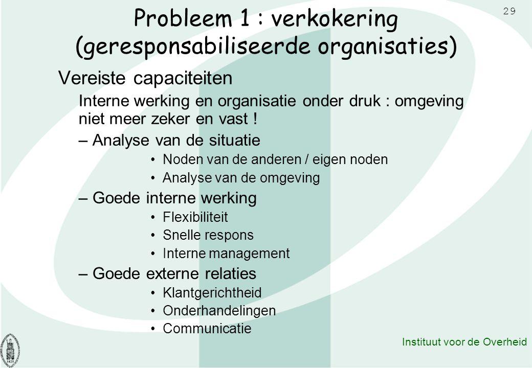 Probleem 1 : verkokering (geresponsabiliseerde organisaties)