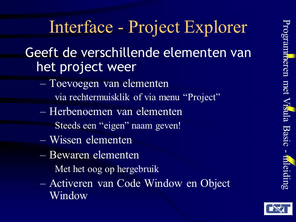 Interface - Project Explorer