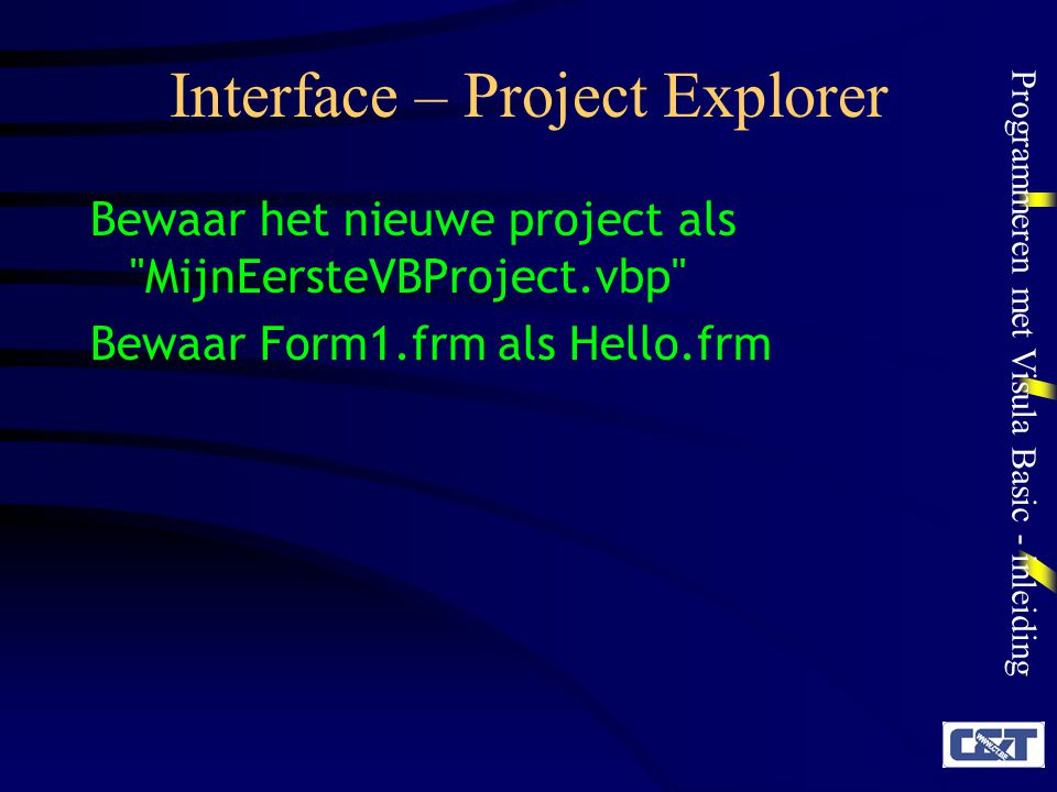 Interface – Project Explorer