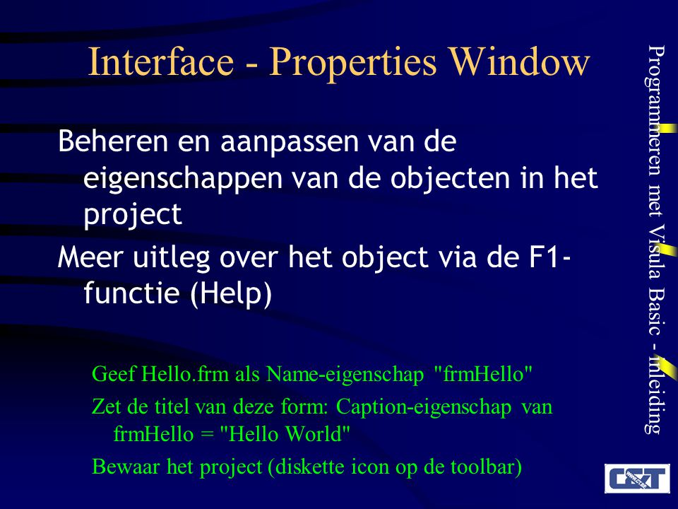 Interface - Properties Window