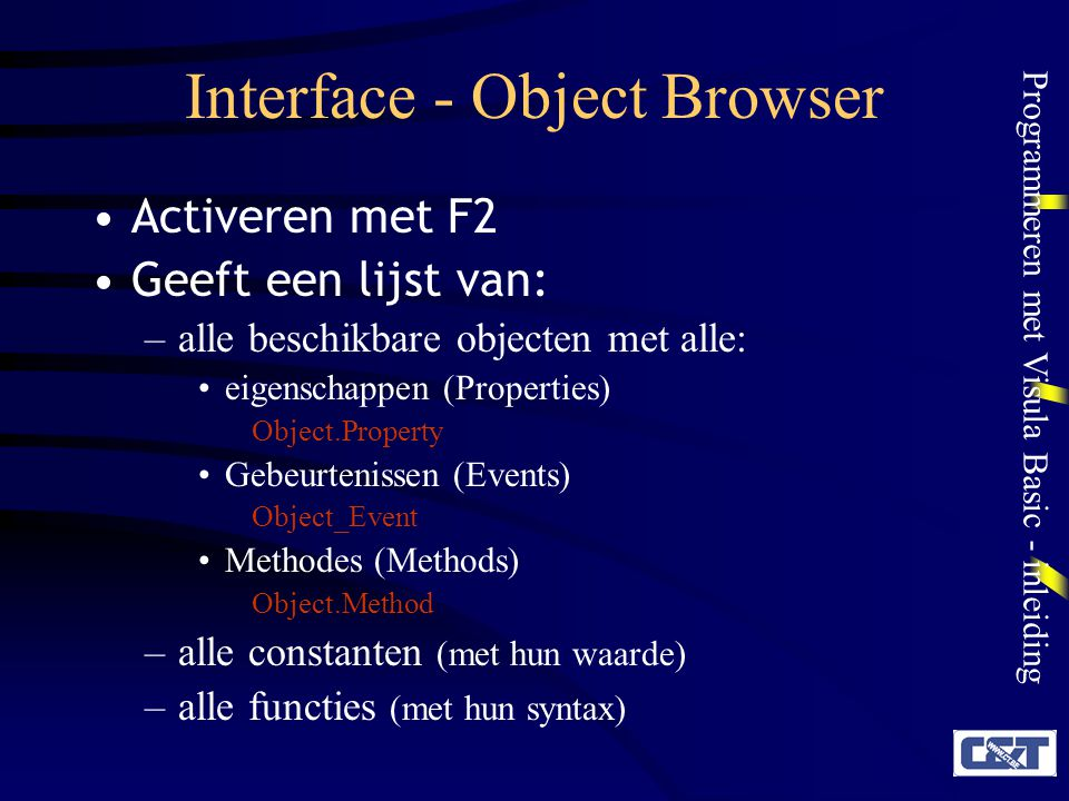 Interface - Object Browser