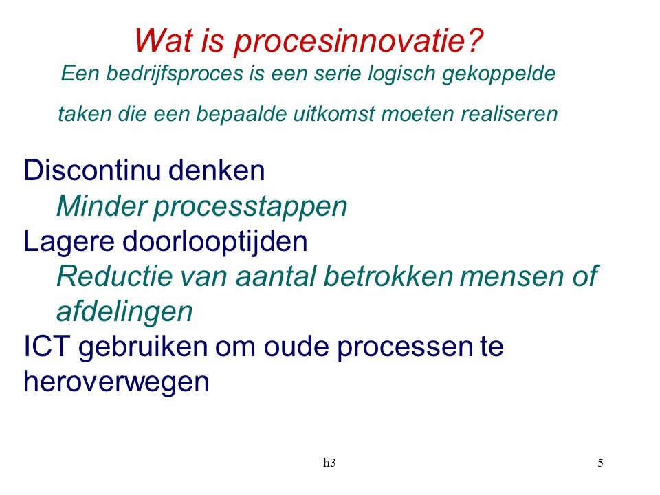 Wat is procesinnovatie
