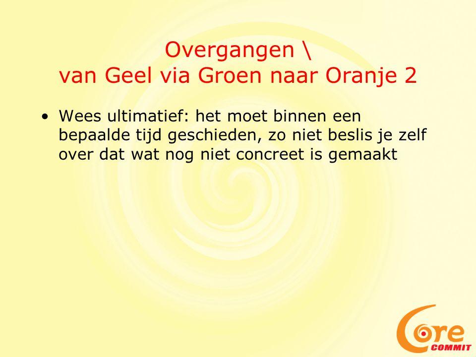 Overgangen \ van Geel via Groen naar Oranje 2