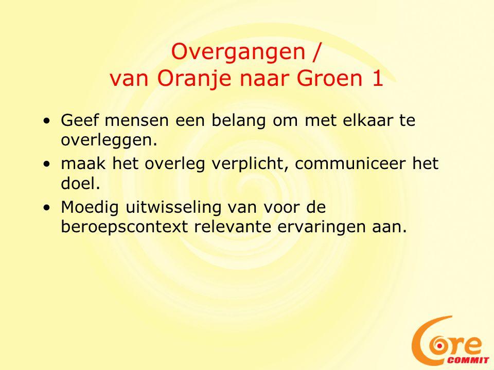 Overgangen / van Oranje naar Groen 1
