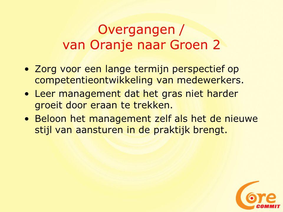 Overgangen / van Oranje naar Groen 2