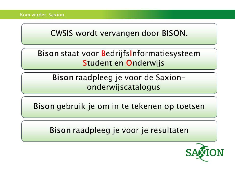 CWSIS wordt vervangen door BISON.