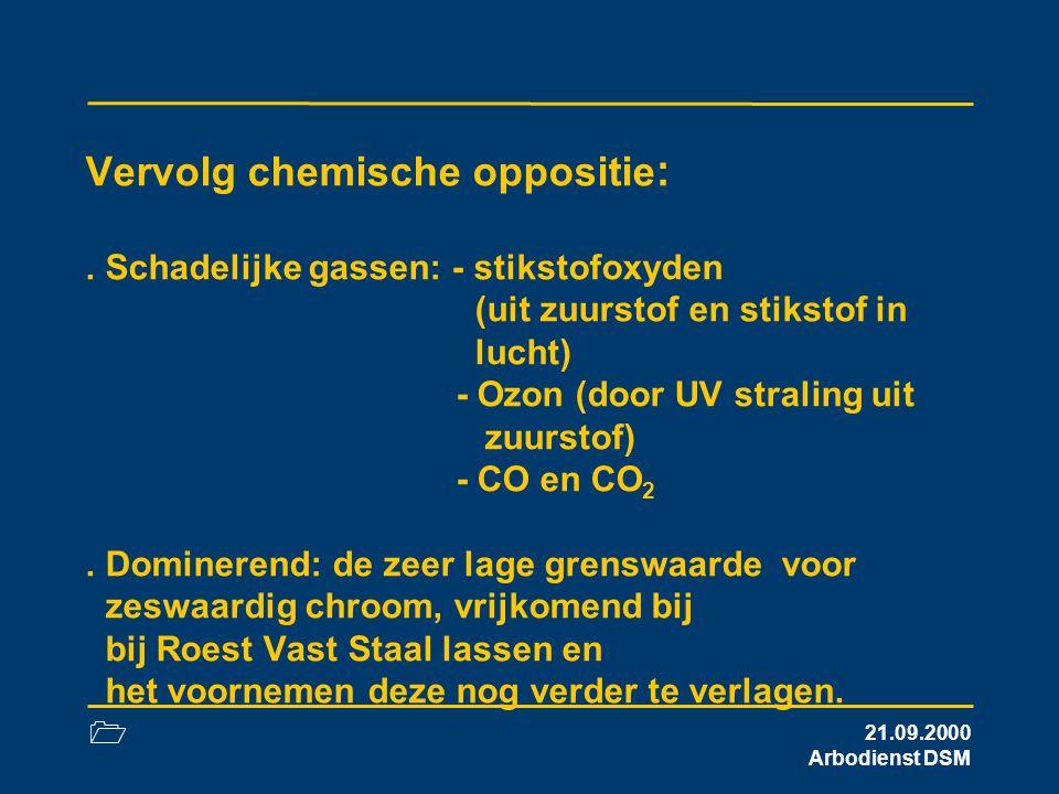 Vervolg chemische oppositie: