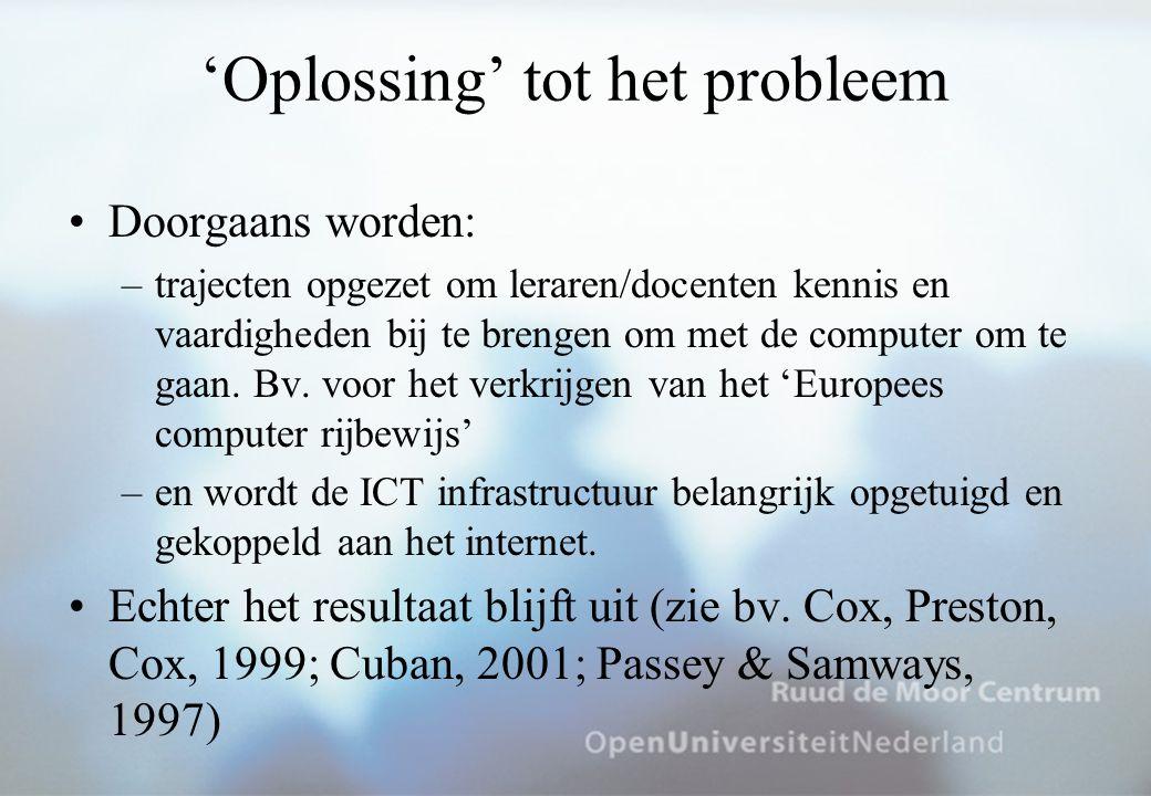 'Oplossing' tot het probleem