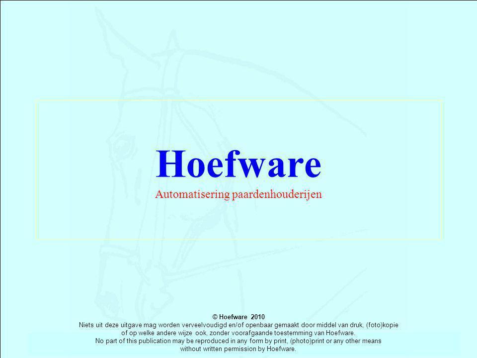 Hoefware Automatisering paardenhouderijen