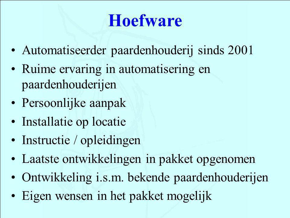 Hoefware Automatiseerder paardenhouderij sinds 2001