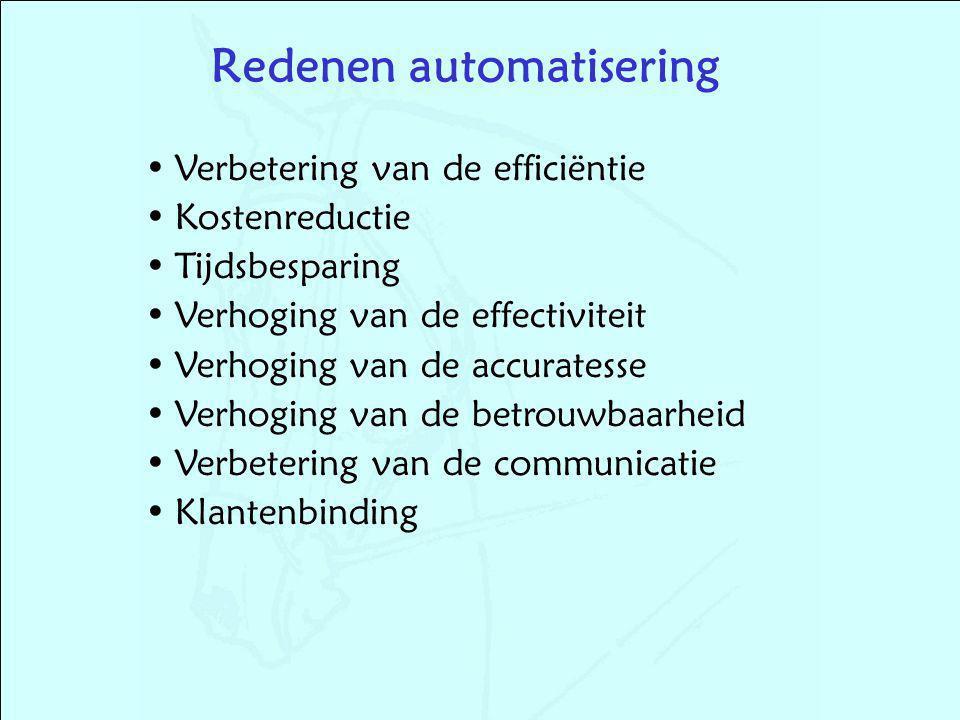 Redenen automatisering