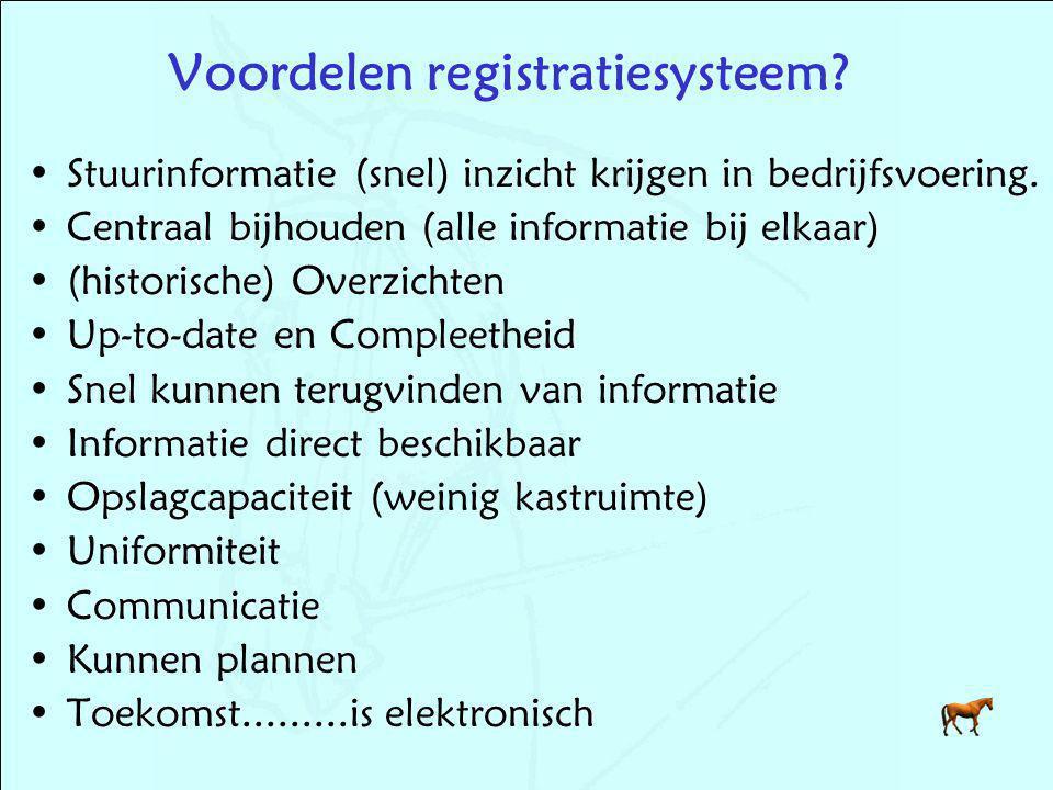 Voordelen registratiesysteem