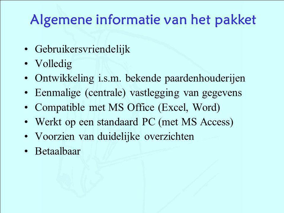 Algemene informatie van het pakket